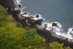 Het strand van de lava royalty-vrije stock foto