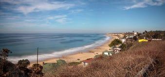 Het strand van de lijncrystal cove state park van strandplattelandshuisjes royalty-vrije stock afbeelding