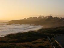Het strand van de maansteen, cambria Royalty-vrije Stock Afbeeldingen