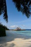 Het strand van de Maldiven Royalty-vrije Stock Foto's