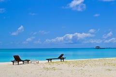Het strand van de Maldiven Stock Foto's