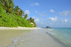 Het strand van de Maldiven Royalty-vrije Stock Fotografie