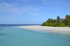 Het strand van de Maldiven Stock Foto