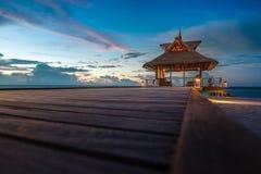 Het strand van de Maldiven royalty-vrije stock afbeelding