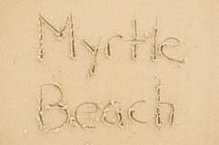 Het strand van de mirte Royalty-vrije Stock Foto's