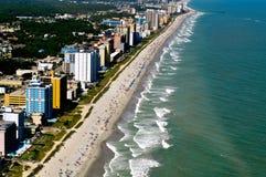 Het Strand van de mirte - LuchtMening Stock Afbeelding
