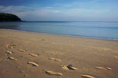 Het strand van de ochtend Royalty-vrije Stock Foto's