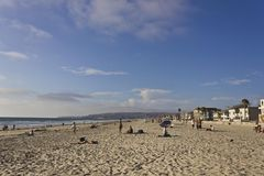 Het strand van de opdrachtbaai in San Diego Stock Foto's