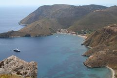 Het strand van de Peloponnesus royalty-vrije stock afbeeldingen