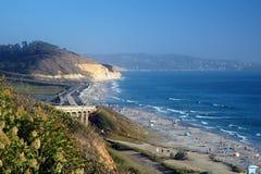 Het Strand van de Pijnbomen van Torrey, Californië Stock Foto's
