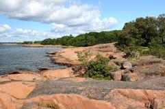 Het strand van de rots Royalty-vrije Stock Afbeelding