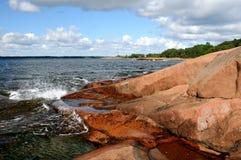 Het strand van de rots Stock Foto