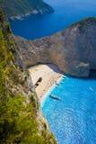 Het strand van de schipbreuk (Navagio) Royalty-vrije Stock Foto's