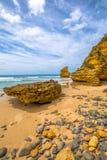 Het strand van de Spetacularstap, Aireys-Inham Victoria Stock Afbeelding