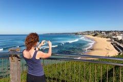 Het strand van de staaf - Newcastle Australië royalty-vrije stock fotografie