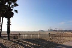 Het strand van de staat van kerstmanmonica royalty-vrije stock afbeeldingen