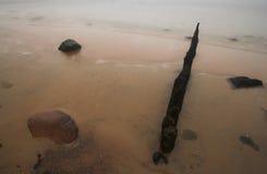 Het strand van de steen royalty-vrije stock afbeelding