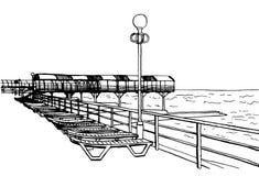 Het strand van de tekening Stock Fotografie