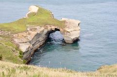 Het strand van de tunnel bij Schiereiland Otago Royalty-vrije Stock Afbeeldingen