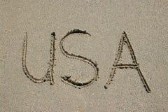 Het strand van de V.S. Miami Stock Foto