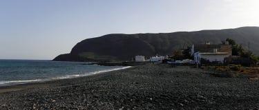 Het strand van de vissende Zwarte van dorpspozo Stock Fotografie