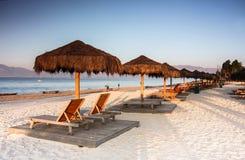 Het strand van de vrije tijdsvakantie Stock Foto