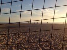 Het strand van de winter Stock Foto's