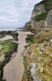 Het Strand van de witte Rots, Portrush, Noord-Ierland Royalty-vrije Stock Foto's