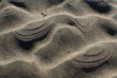 Het strand van de zandrimpeling stock afbeeldingen