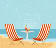 Het strand van de zomer Royalty-vrije Stock Fotografie