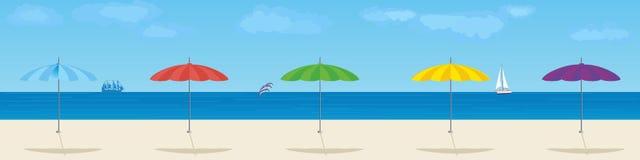 Parasols stock illustratie