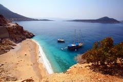 Het strand van de zomer in Turkije stock foto