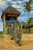 Het strand van het de zomerplattelandshuisje Stock Afbeeldingen