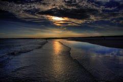 Het Strand van de zonsondergang Royalty-vrije Stock Foto's