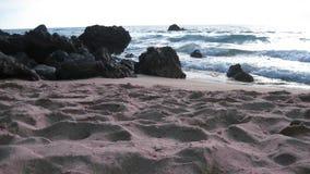 Het strand van de zonsondergang Stock Fotografie