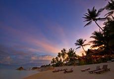 Het Strand van de zonsondergang Royalty-vrije Stock Foto