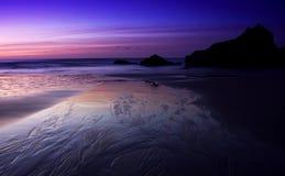 Het Strand van de zonsondergang Stock Foto