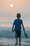 Het strand van de zonsopgang Stock Foto's