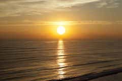 Het Strand van de zonsopgangzonsondergang royalty-vrije stock afbeelding