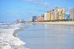 Het strand van de Zuid- mirte Carolina Stock Fotografie