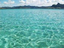 Het strand van de zuidenkust van Mauritius royalty-vrije stock afbeeldingen