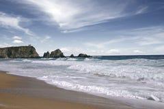 Het strand van de Zwarte Zee Royalty-vrije Stock Foto
