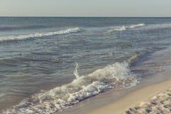 Het strand van de Zwarte Zee Stock Afbeelding