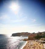 Het strand van Dubrovnik stock fotografie