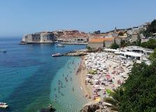 Het strand van Dubrovnikbanje Stock Foto's