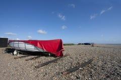 Het strand van Dunwich stock foto's