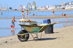 Het strand van Durres Royalty-vrije Stock Afbeeldingen