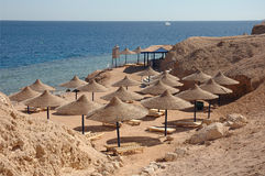 Het strand van Egypte Royalty-vrije Stock Foto