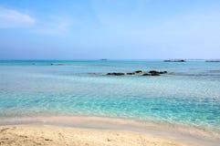 Het strand van Elafonisi, Kreta Royalty-vrije Stock Afbeeldingen