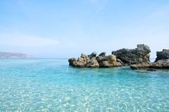 Het strand van Elafonisi, Kreta Stock Foto